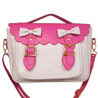 Preppy ribbon 3WAY bag pink - ONLINE SHOP - SWIMMER