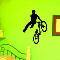 Bicycle Wall Decal Vinyl Sticker Biker Extreme Cycling Sport Wall Decor Home Interior Design Art Mural Boy Room Kids Bedroom Dorm Z752