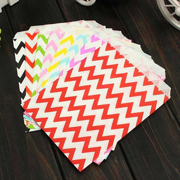 Home Kitchen Accessories 25 Pcs Candy Bag Stripe Treat Bags Wedding Birthday Party Favors Gifts Paper Bags LS