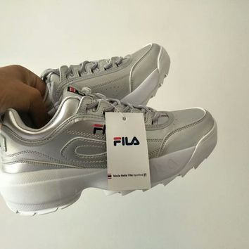 """""""FILA"""" Women All-match Casual Fashion Letter Thick Bottom Sneakers Running Shoes"""