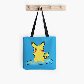Surfing Pika Tote