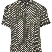 PETITE Spotty Swing Shirt - Moss