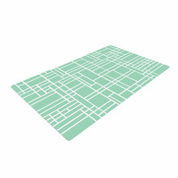 "Project M ""Map Outline Mint"" Geometric Lines Woven Area Rug"