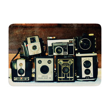 "Robin Dickinson ""Through the Years"" Vintage Camera Memory Foam Bath Mat"