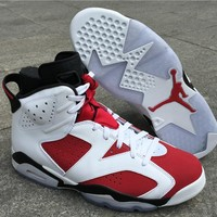 "Air Jordan 6 Retro ""CARMINE""(2014) White/Red"