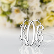 Present for lover monogram necklace 1.25 inch 925 sterling silver necklace jewelry--nameplate necklace