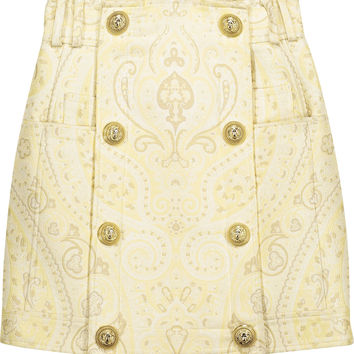 Brocade mini skirt | Balmain | US | THE OUTNET