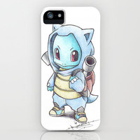 Squirtle wearing a Blastoise Hoodie iPhone Case by Birdy | Society6