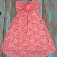 Lace Coral Dress   Elusive Cowgirl