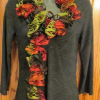 Autumn Colors  - 50 inch Winter Weight BOA Ruffle Scarf