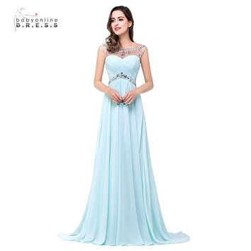 Under $50 Real Sample Vestidos Prom Dresses High Quality A-line Backless Royal Blue Red Yellow Long Prom Dresses Fast Shipping