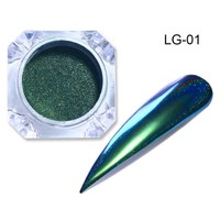 Chameleon Holographic Mirror Nail Glitter Powder 0.5g Holo Shining Chrome Pigment Dust Manicure Nail Art Decoration