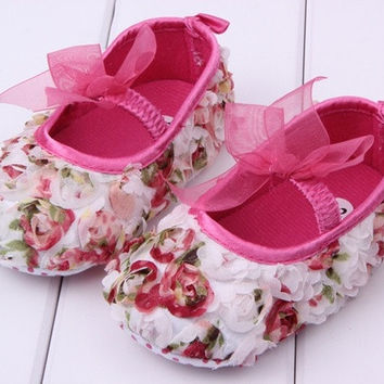 New  baby chiffon flower shoes = 1705271492
