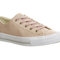 Converse Ctas Gemma Low Leather Evening Sand Gold Exclusive - Hers trainers