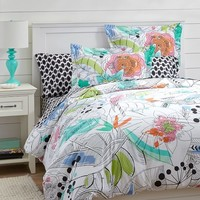 Painted Palm Duvet Cover + Sham