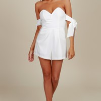 Hold On Tight Romper White