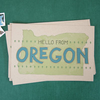 Hello From Oregon Postcard Set