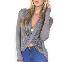Flying Solo Twisted Top - Mauve
