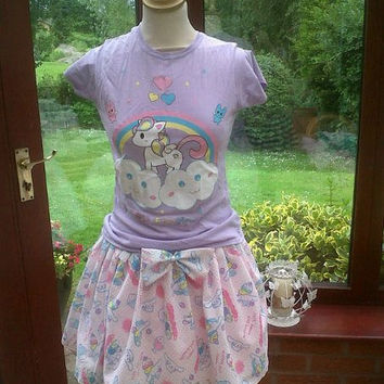 Fairy Kei Cinnamoroll Skirt and matching bow Size UK 6-10