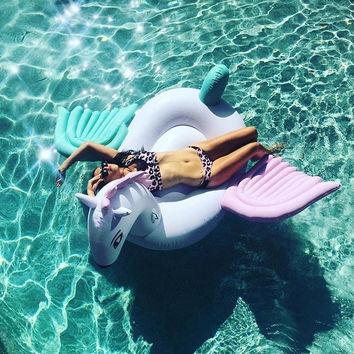Giant Pink and Teal Pegasus Pool/Beach Float