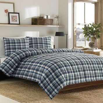 Eddie Bauer Bridgeport Plaid Comforter Set (Blue)
