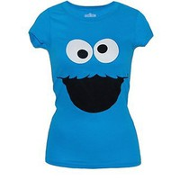 Cookie Monster Big Face Junior Tee