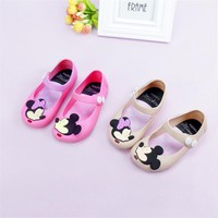 13-17CM Mickey & Minnie Shoes Kids Girls Sandals Crystal Jelly Shoes Melissa Sandals Child Mini Melissa Cute Baby Girl Sandals