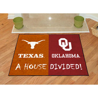 Texas Longhorns-Oklahoma Sooners NCAA House Divided NCAA All-Star Floor Mat (34x45)