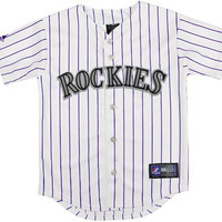 MLB Colorado Rockies Boy's Replica Jersey, White, Small