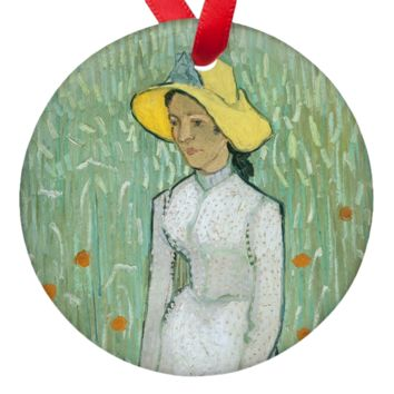 Van Gogh Woman in White Porcelain Ornaments