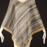 MISSONI-Summer Knit Zig-Zag Knit Poncho