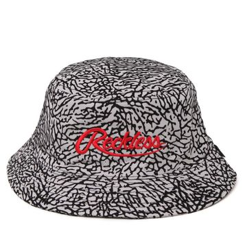 Young & Reckless Crackle Bucket Hat - Mens Backpack - Gray - One
