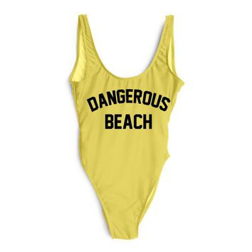 DANGEROUS BEACH One Piece Swimsuit