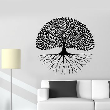 Vinyl Wall Decal Family Tree Nature Branches Leaves Stickers (2467ig)