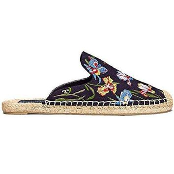 CREY3DS Tory Burch Navy Max Floral Espadrilles