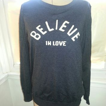 Old Navy sweater 'Believe in Love'