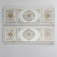 Legends of Asia Gold and Cream Wall Panels
