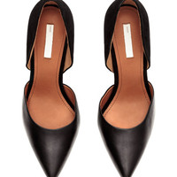 Leather and Suede Pumps - from H&M