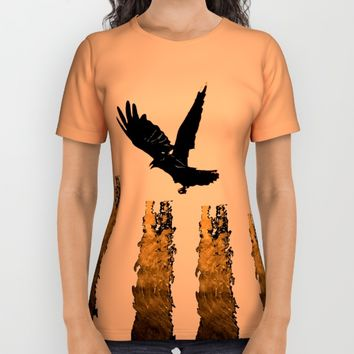Crow Prey All Over Print Shirt by ES Creative Designs