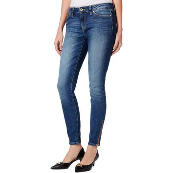 Tommy Hilfiger Womens Faded Five-Pocket Skinny Jeans
