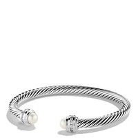 David Yurman Cable Classics Bracelet with Pearl & Diamonds