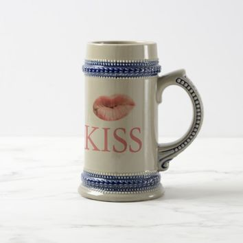 Say Cheese... And Kiss Beer Stein