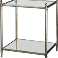 Uttermost Gannon Mirrored Glass End Table - 24282