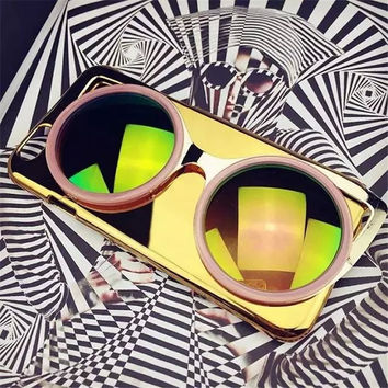 Bling 3D Sun Glasses Phone Case for iPhone 5 5S 6G 6