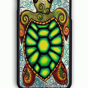 iPhone 6S Case - Hard (PC) Cover with Baby Turtle Under The Sea Art Plastic Case Design