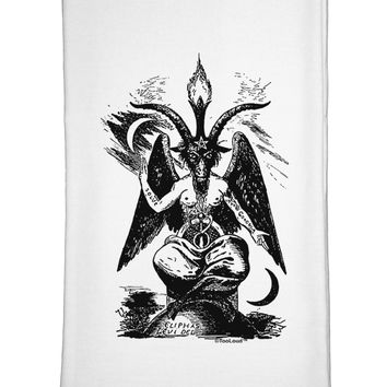Baphomet Illustration Flour Sack Dish Towels by TooLoud