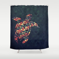 The Pattern Tortoise Shower Curtain by VessDSign