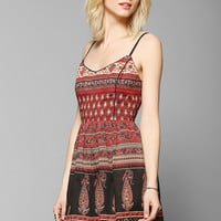 Band Of Gypsies Lace-Up Back Fit & Flare Dress - Urban Outfitters