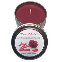 4 oz Rose Petals Scented Floral Soy Candle