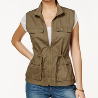 Maison Jules Zip-Front Utility Vest, Only at Macy's - Jackets - Women - Macy's